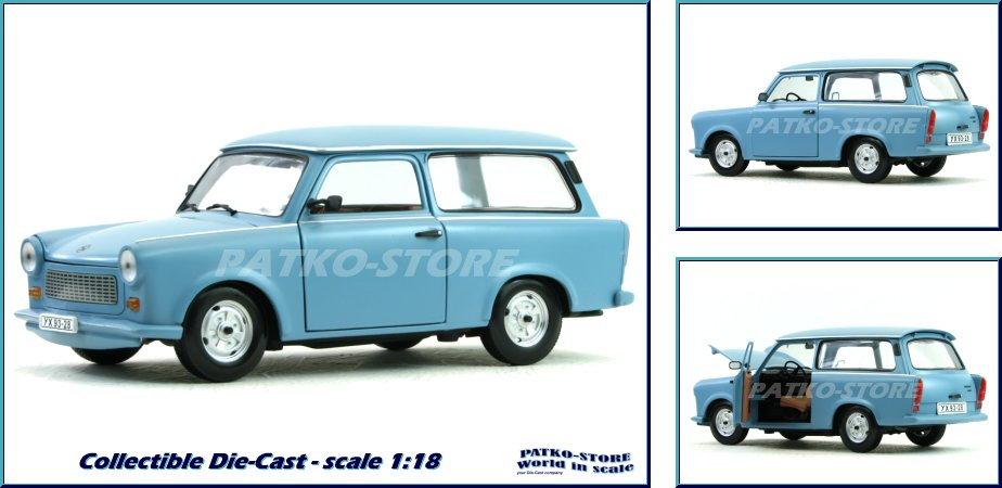 trabant 601 universal kombi blue sunstar 1 18 ebay. Black Bedroom Furniture Sets. Home Design Ideas